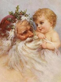 Santa and baby ~ love