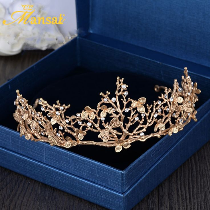 Nova Rainha Barroco Do Vintage Libélula Acessórios Para Cabelo Nupcial Tiaras E Coroas de Ouro Folha Hairband Meninas Ornamentos Presente HG253 em Jóia do cabelo de Jóias & Acessórios no AliExpress.com | Alibaba Group