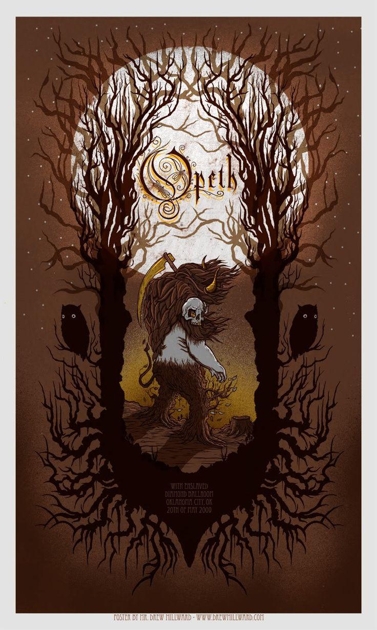 Opeth poster by Drew Millward   Heavy Metal Artwork ...