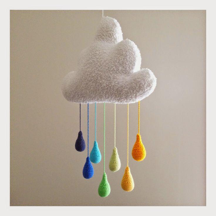 virkad droppe babymobil gratis mönster http://sveaspunkt.blogspot.se/