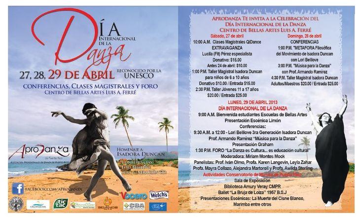 Día Internacional de la Danza 2013 @ Centro de Bellas Artes Luis A. Ferré, Santurce