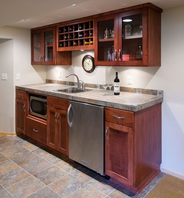 17 best ideas about small basement apartments on pinterest for Small basement bar ideas