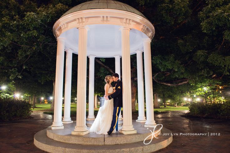 Diana & Wesley at the historic Old Well on UNC's campus - Chapel Hill, NC