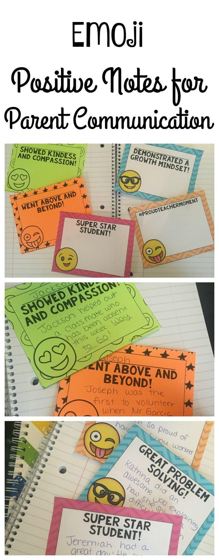 Emoji Positive Notes Home for Parent Communication
