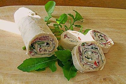 Rucola-Schinken-Wraps, ein raffiniertes Rezept aus der Kategorie Käse. Bewertungen: 62. Durchschnitt: Ø 4,3.