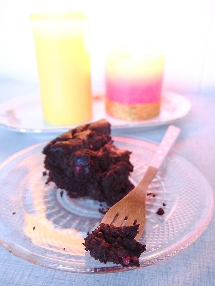 Recept: Vegan & glutenvrije brownies met frambozen - De Groene Meisjes