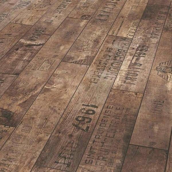 Imprinted wooden floors