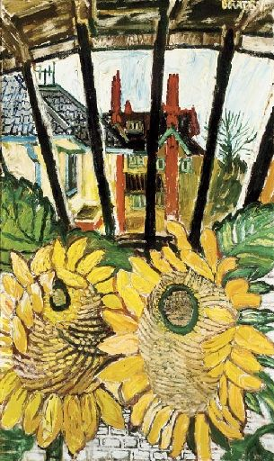 JOHN RANDALL BRATBY Sunflowers in a Greenhouse