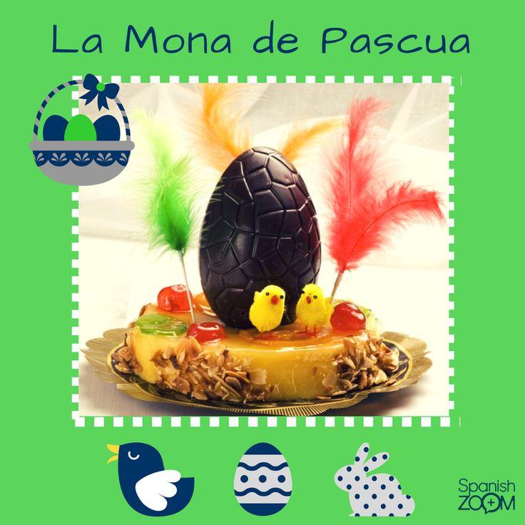 """La #MonadePascua es un alimento típico de la repostería española. Es una torta de la #Pascua cuya degustación simboliza que la #Cuaresma y sus abstinencias se han acabado. Tradicionalmente el padrino regala la mona a su ahijado el #DomingoDePascua, después de misa para comerla en familia el mismo domingo o el #LunesDePascua, dando nombre al #DíaDeLaMona"""". #easter #spanishtraditions #tradicionesespañolas #spain #españa #gastronomiaespañola #learnspanish #spanishzoom"""