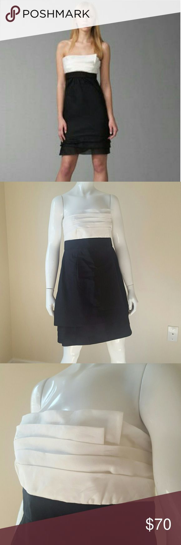 NWT! BCBGMaxAzria strapless organza dress New with tags! Beautiful layers across bust and at the bottom of the dress. Perfect for special occasions!  Size 12. BCBGMaxAzria Dresses Strapless