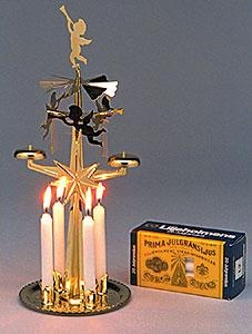 Swedish Angel Chimes... the heat of the candles would make the angels revolve...