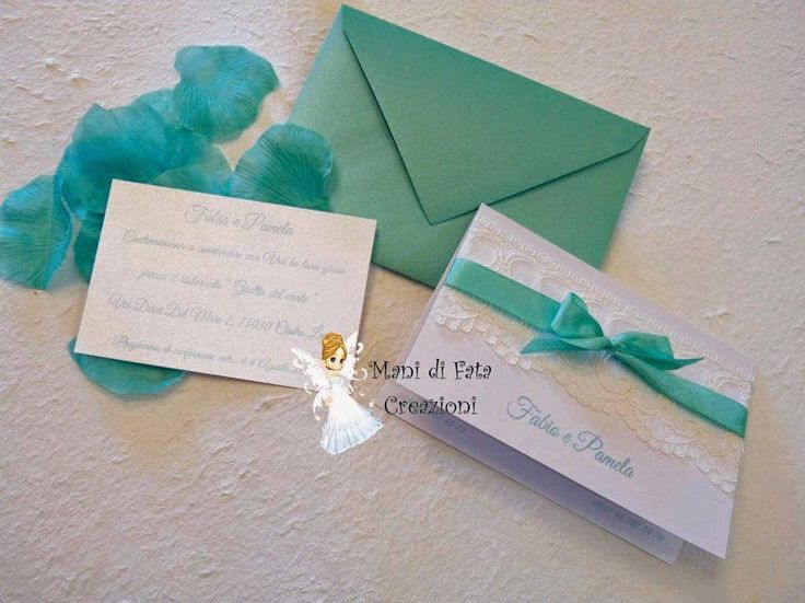 Partecipazione matrimonio pizzo - Wedding lace invite