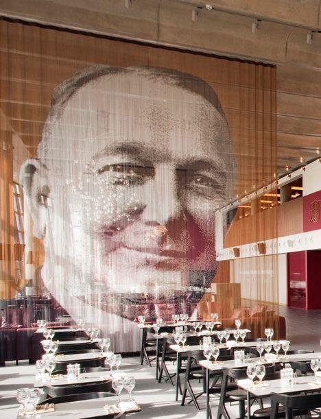 KriskaDecor chains at Arsenal Emirates Stadium @KriskaDECOR #art #design #interior