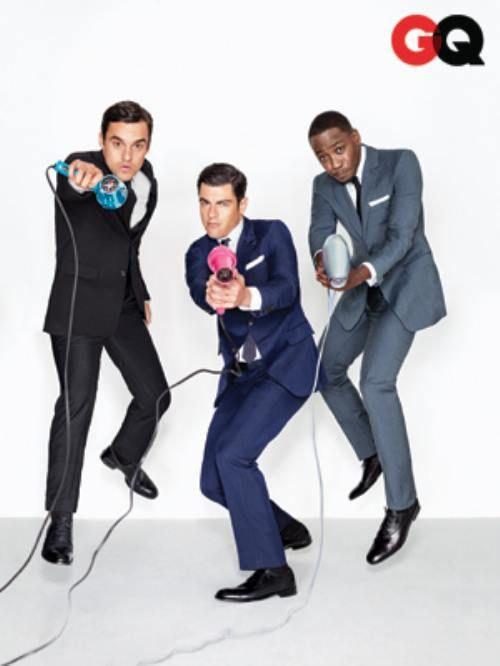 The men of New Girl!  Jake Johnson, Max Greenfield, and Lamorne Morris