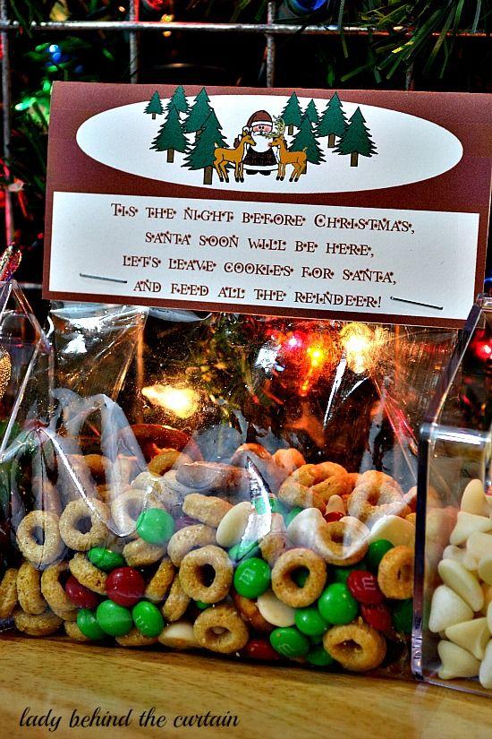 "DIY Reindeer Food - ""Tis The Night Before Christmas Santa Soon Will Be Here. ""Let's Leave Cookies For Santa, And Feed All The Reindeer!"""