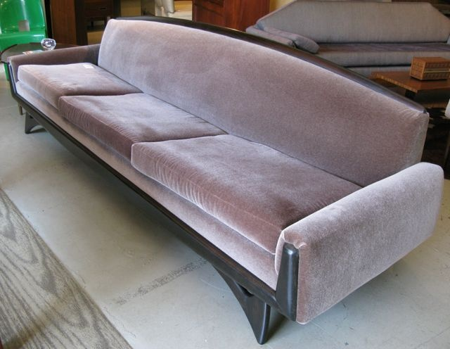 Sofa Designed By Adrian Pearsall For Craft Associates With Ebonized Walnut  Trim And Base, And