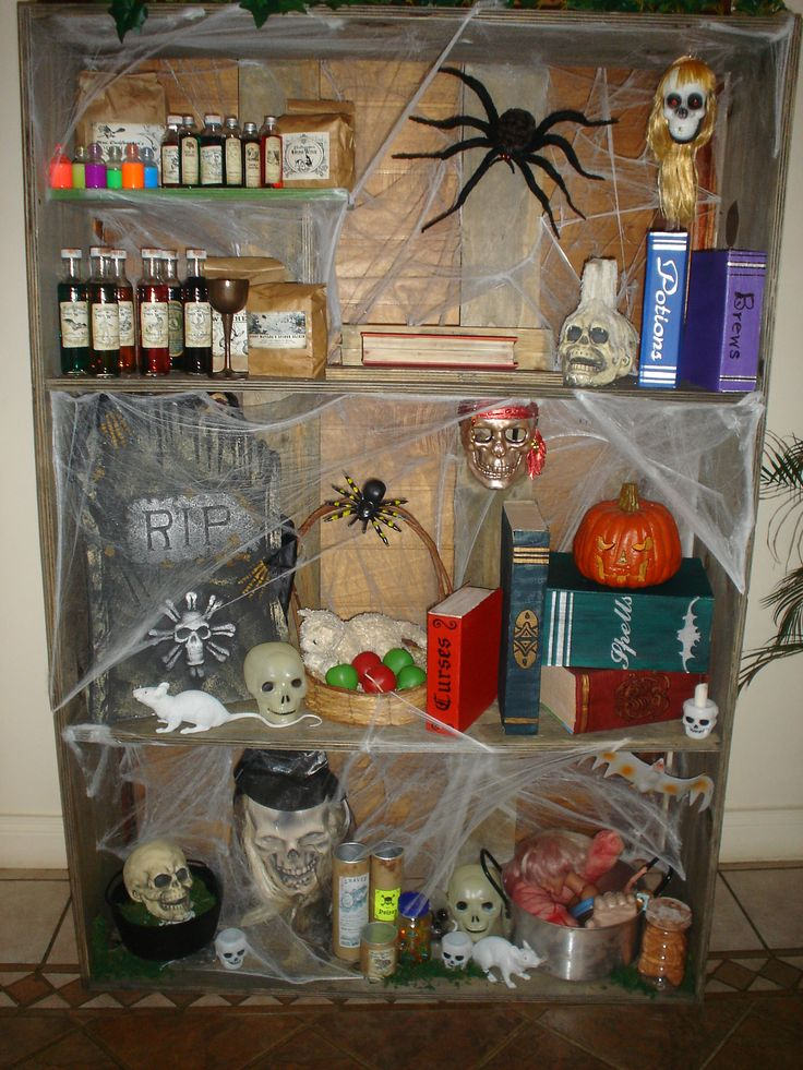 Scary Shelf Created For The Witches House For The