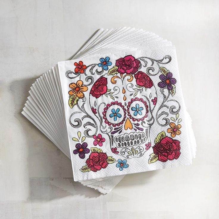 Dia de Los Muertos/Day of the Dead~ Paper Cocktail Napkins | Pier 1 Imports