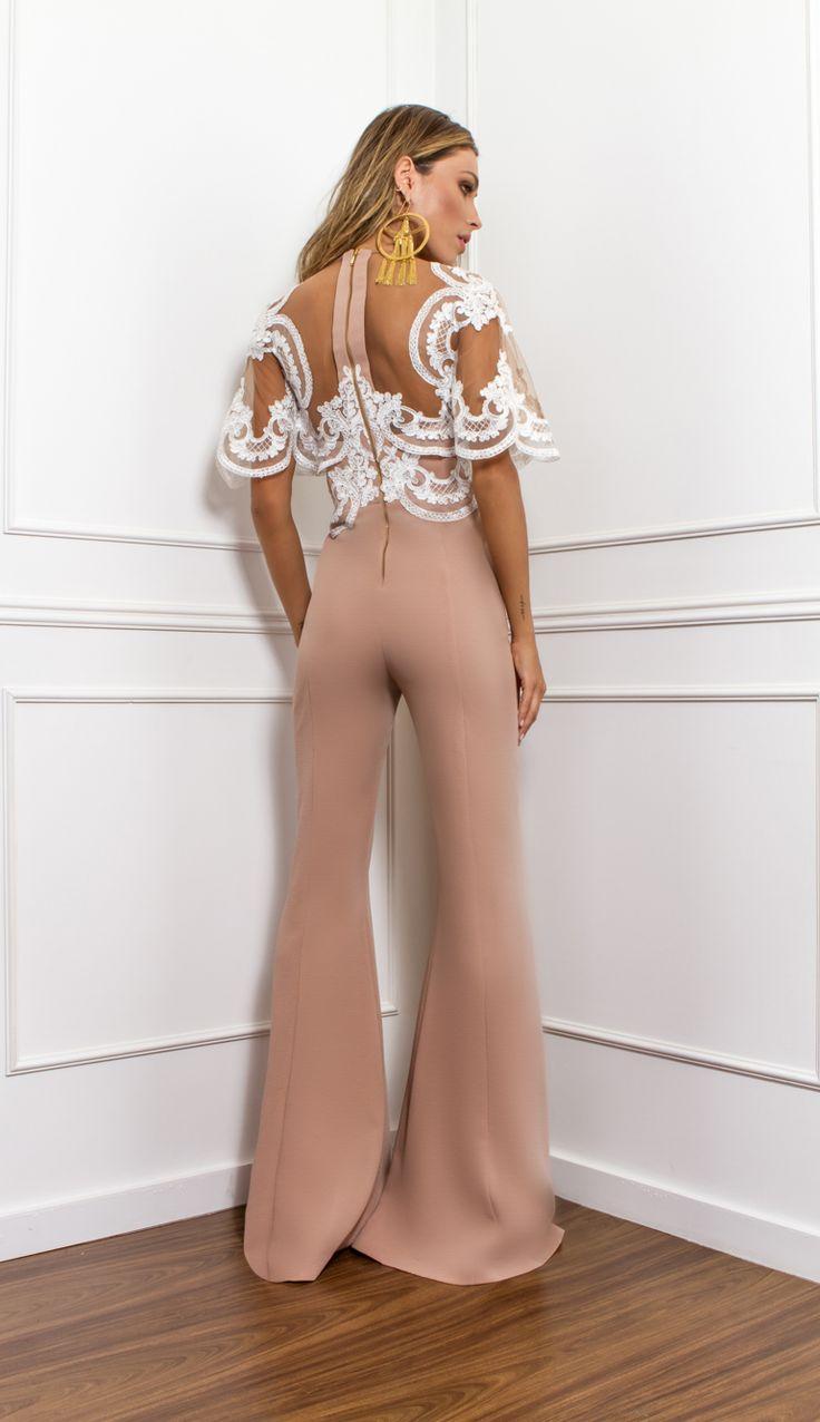 MACACÃO COM RENDA E TULE - MAC18247-57 | Skazi, Moda feminina, roupa casual, vestidos, saias, mulher moderna
