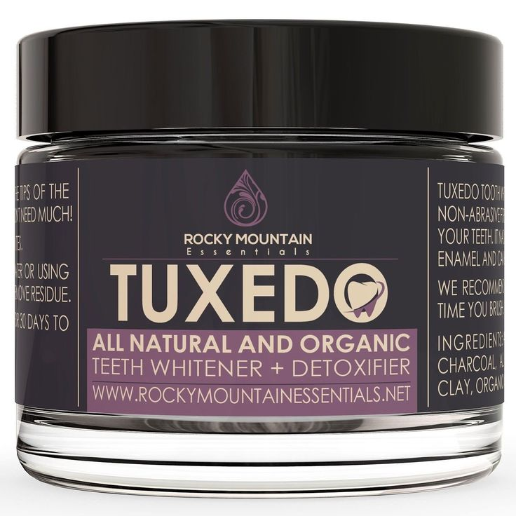 All Natural Charcoal Teeth Whitening 'Tuxedo' Tooth and Gum Powder By Rocky M...