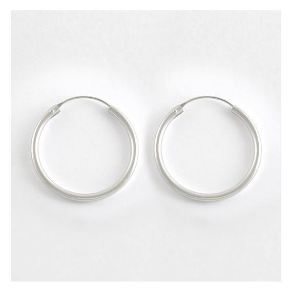 gypsy Charm Hoops Earings  Sterling Silver x1 Pair