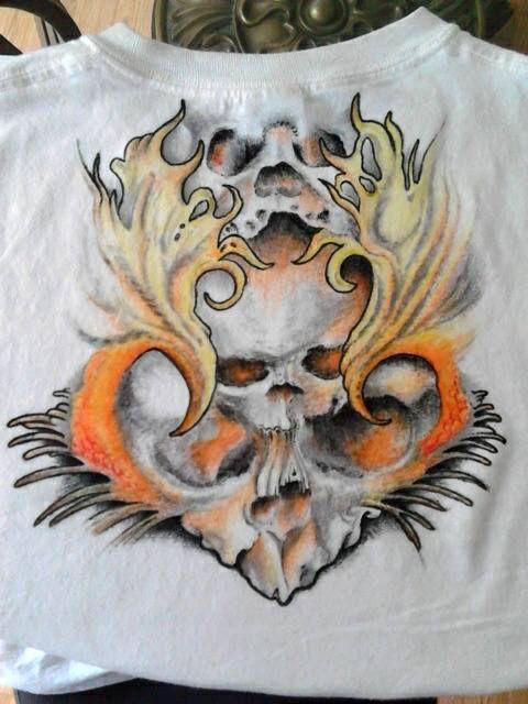 Anthony Gordon Art on tshirt