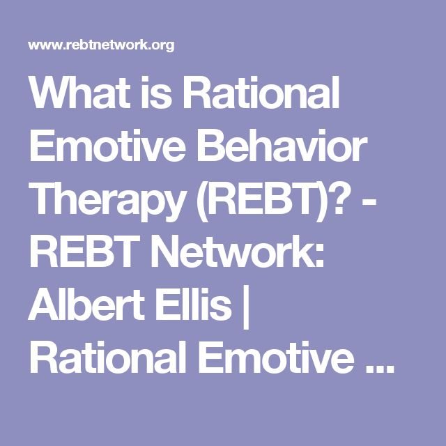 albert ellis and the rational emotive The works of dr albert ellis and the theory and practice of rational emotive behavior therapy (rebt.