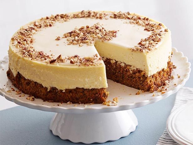 Carrot Cheesecake 101 : This decadent dessert mash-up consists of three essential layers: carrot cake enriched with ground cinnamon and ground ginger for spice, rich cheesecake and a smooth sour cream topping. via Food Network
