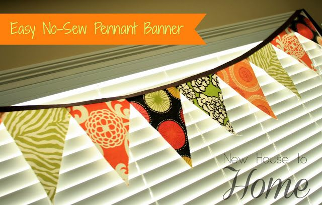New House to Home: How to Make a No-Sew Pennant Banner