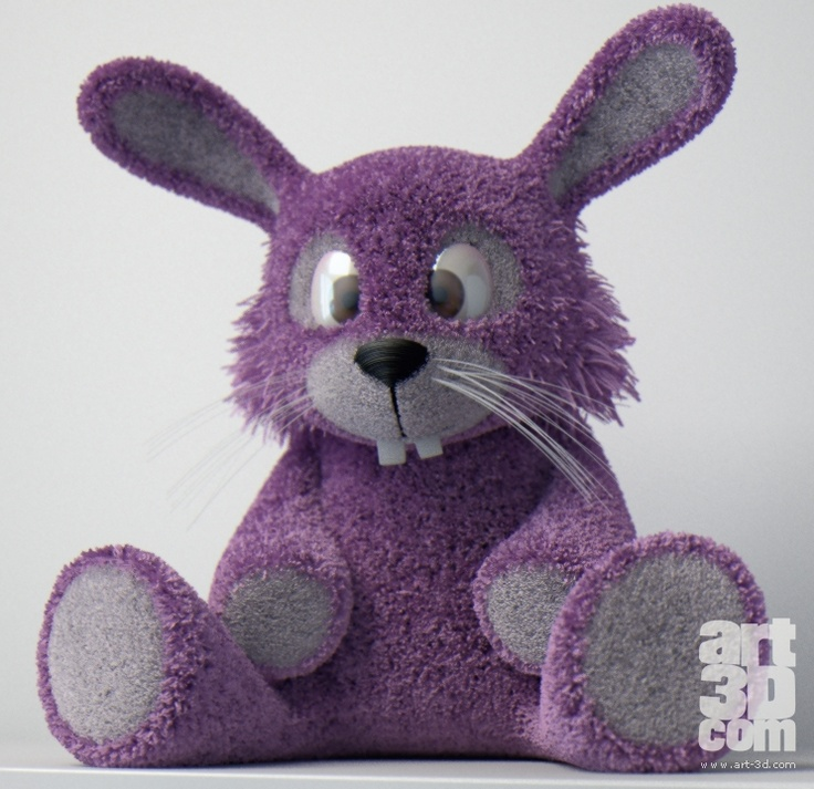 Fluffy Rabbit - 3D artwork