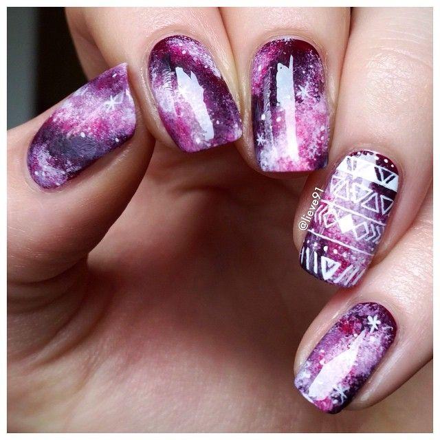 Galaxy nails with...Instagram photo | Websta (Webstagram)