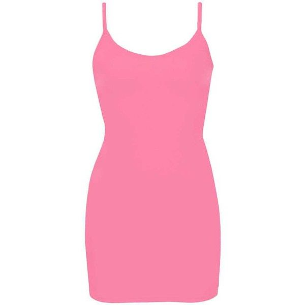 BKE Extra Long & Lean Tank Top - Pink X-Small ($6.30) ❤ liked on Polyvore featuring tops, pink, strappy tank, pink top, strappy top, v neck tank and pink tank