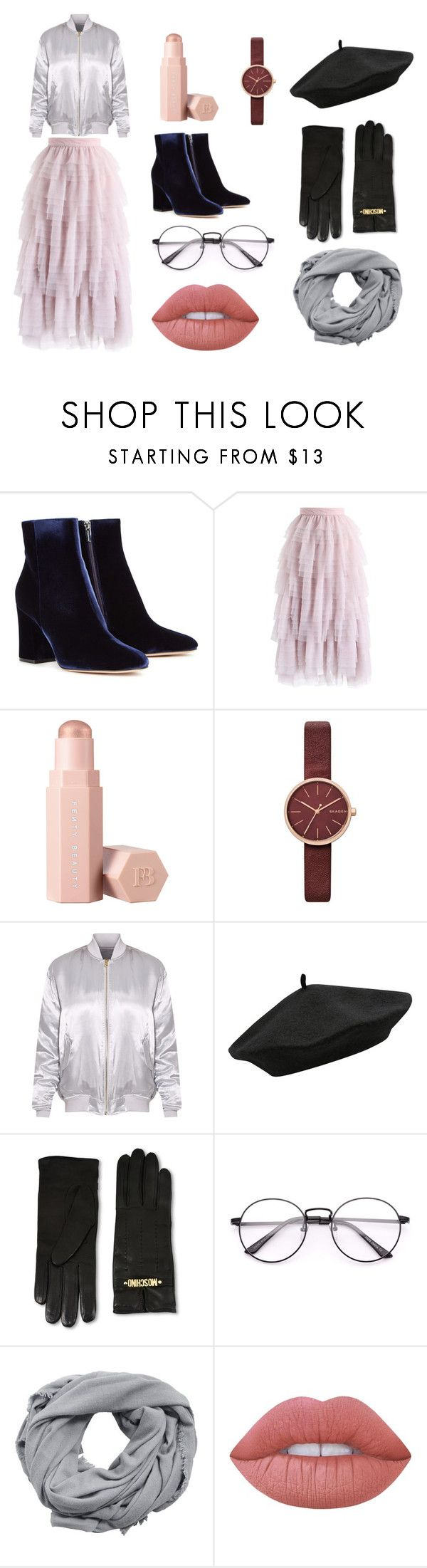 """French kiss set"" by sweetlittlebunny on Polyvore featuring moda, Gianvito Rossi, Chicwish, Puma, Skagen, M&Co, Moschino, MANGO i Lime Crime"