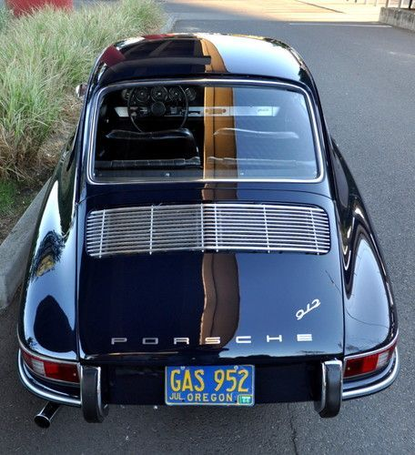 1966 Porsche 912 Short Wheel Base Coupe Aga Blue Fresh Restoration Show Ready, image 2