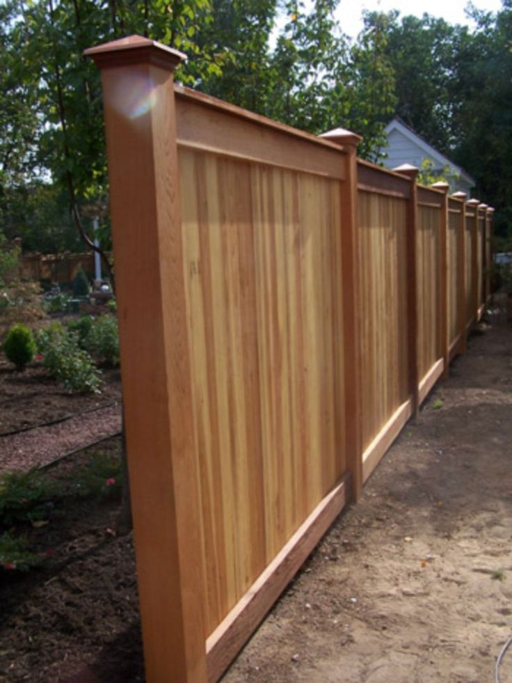 16 best ryan images on pinterest for Wood privacy fence ideas
