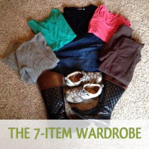 Paring down the wardrobe to 7 essentials. How many days could you make that work?