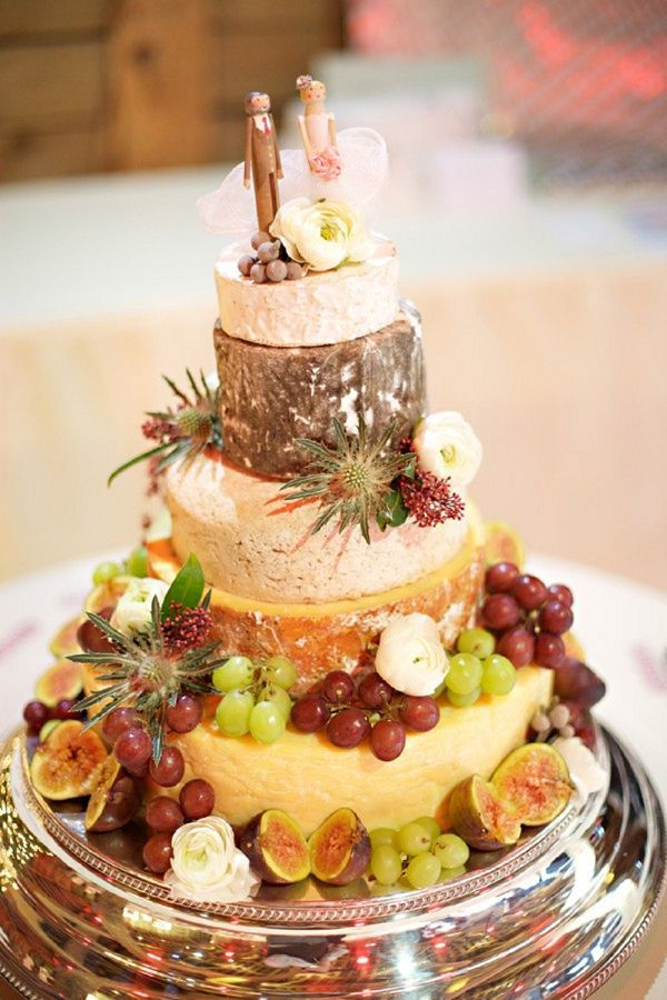 rustic fall cheese wedding cake with cute topper / http://www.deerpearlflowers.com/rustic-wedding-cakes-tend-cheese-wedding-cakes/