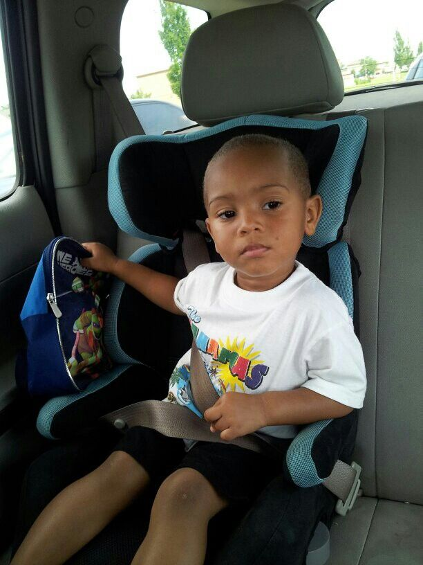 That face your son makes when you are in the car dancing and he don't like it!! Lol