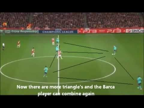 ONE TOUCH TIKI TAKA ANALYSIS. Shows how Barcelona is making use of the triangle tactic to create the famous passing style called Tiki Taka.