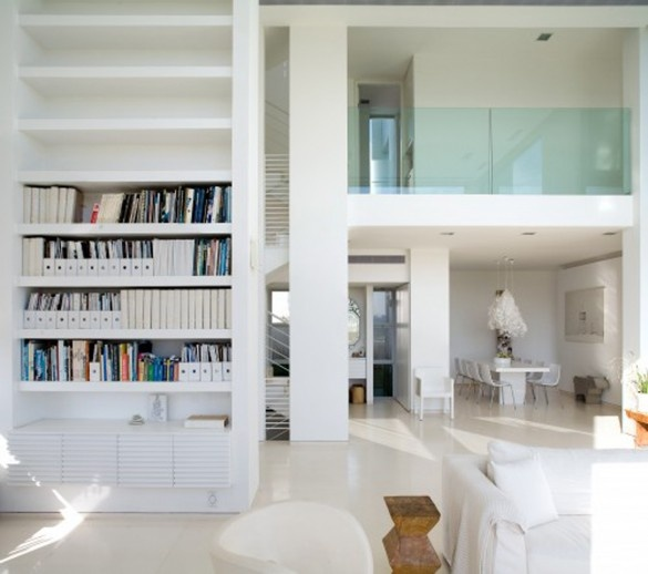 Glass railing and white