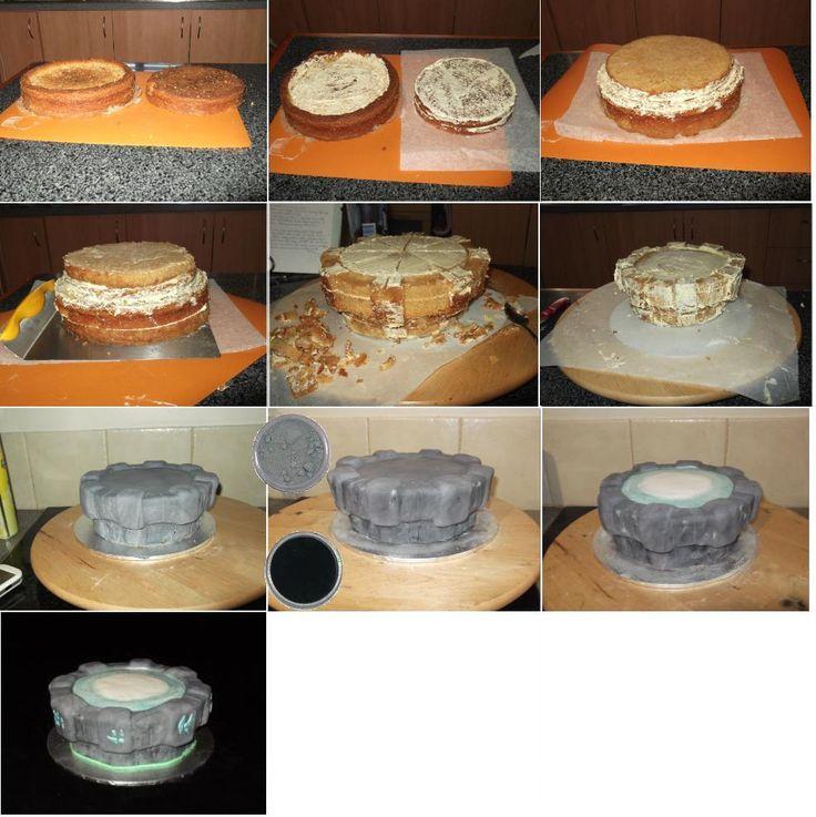Skylanders Portal Cake step-by-step