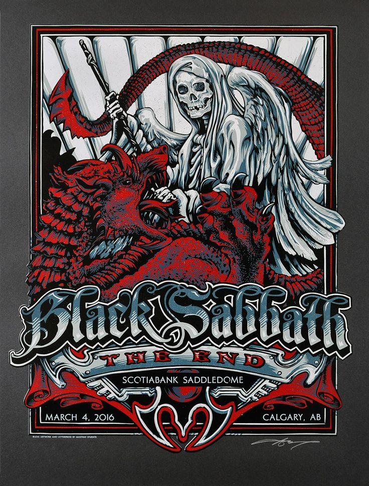 Black Sabbath AJ Masthay Calgary Poster Release Details