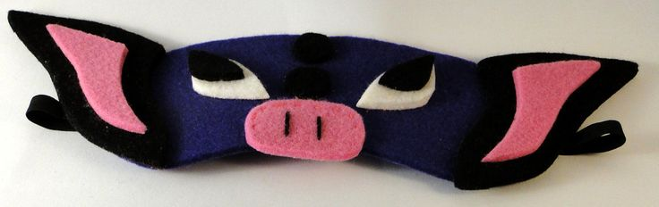 Grumpig pokemon blindfold mask by TosTosia