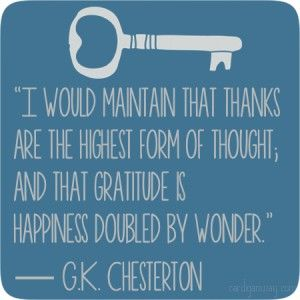 Chesterton Thanks quote