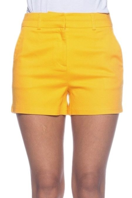 Women's Yellow Shorts.