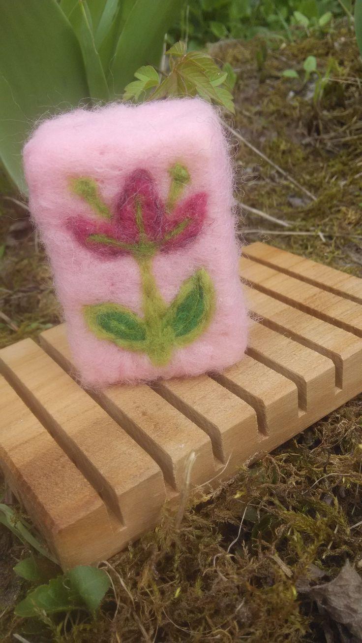 Needle felted soap