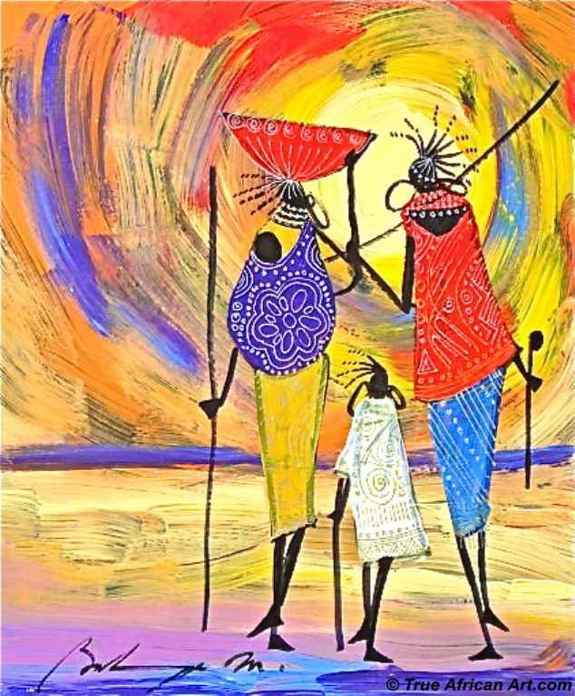 unknown artist african art by martin bulinya 1 paintings