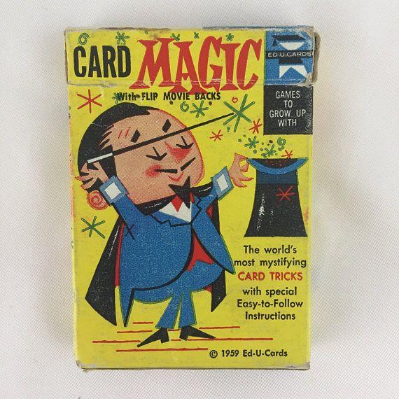 1959 Ed-U-Cards Card Magic Playing Cards Magic Card Tricks