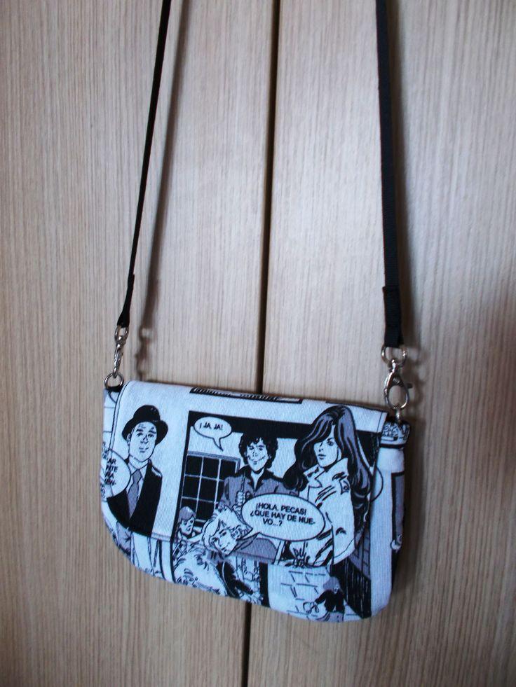 Comics mini-bag 1. www.vanessavanhandmade.etsy.com