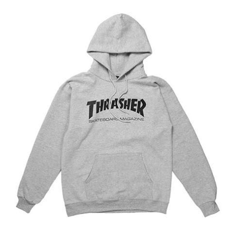Thrasher Skate Mag Logo Hood Grey